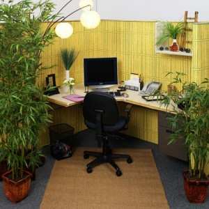 Decorated office cubicle - say no to corporate slavery - Anywhere Entrepreneur